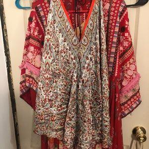 Dresses & Skirts - Silky boho dress. Perfect for music festivals!